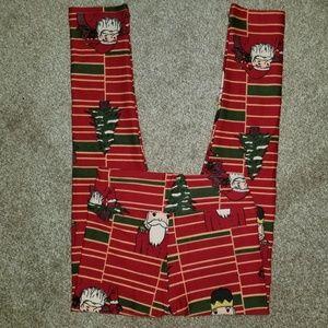 Lularoe Santa Christmas leggings